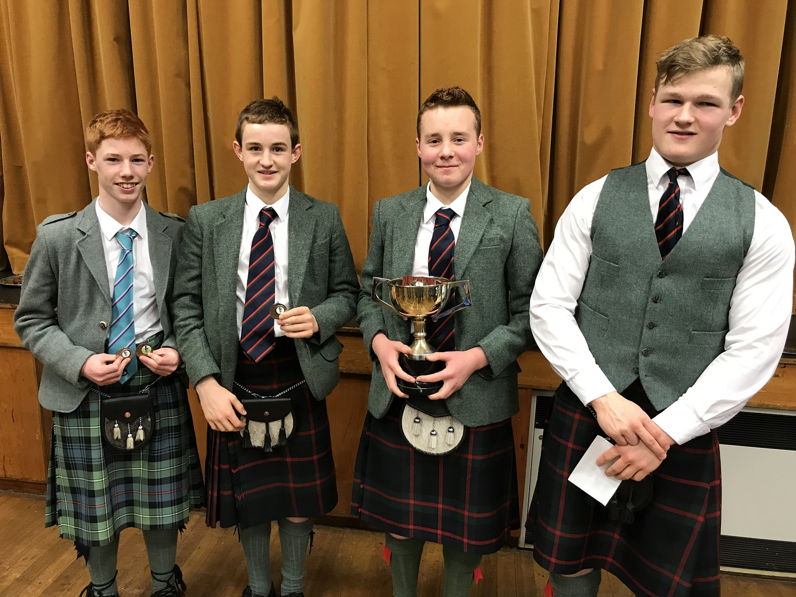 Jasper D Ed H Gregor C And Cameron B Vale Of Atholl Pipers
