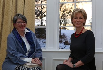 Sally Magnusson visit to the school Feb 2015