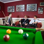 Skrines boys playing pool 2015