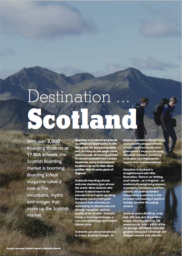BSA feature destination Scotland