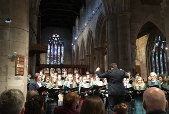 Concert Choir performs in Perth