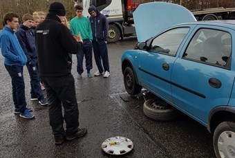 Car mechanics workshop for Upper Sixth Pupils Glenalmond College