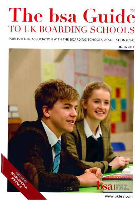 Glenalmond steals the front page on the Boarding Schools' Association 2017 Guide