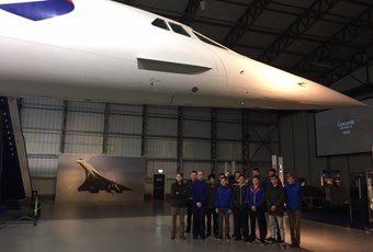 RAF section Field Day visit to Museum of Flight Concorde